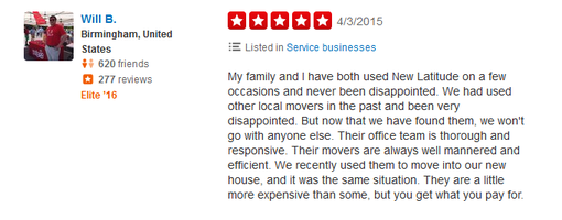 New Latitude Movers - Moving review