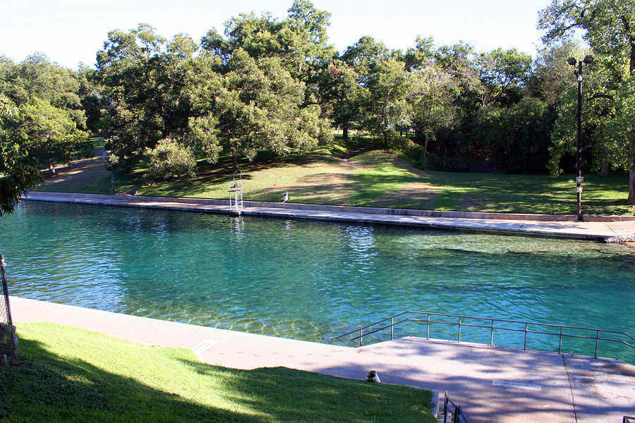 People love taking a dip in Barton Springs Pool, Austin