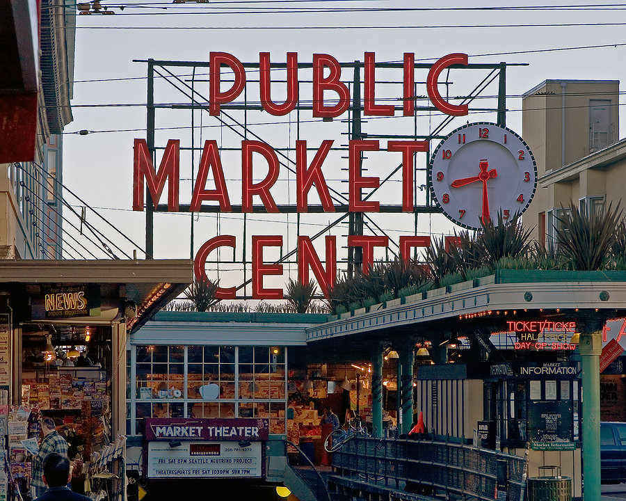 Pike Place Market is one of the oldest public markets in the United States