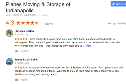Planes Moving and Storage – Moving reviews