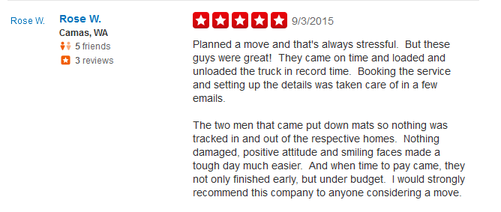 Portland Movers Company – Moving review