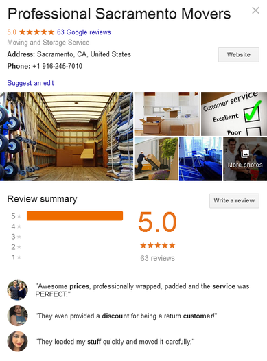 Professional Sacramento Movers – Location