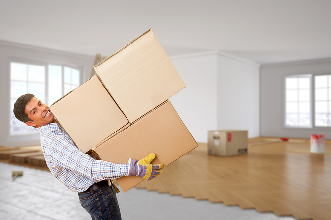 Professional movers help with packing, loading, disassembly of furniture, and delivery