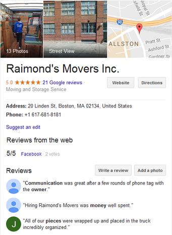 Raimonds Movers - Location