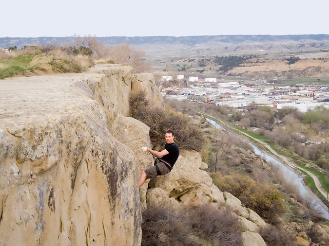 Rappelling at Cats-eye – one of many outdoor adventures in Billings