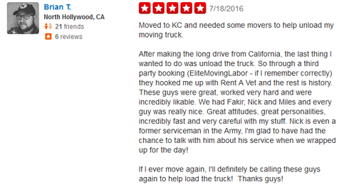 Rent a Vet Movers – Moving review