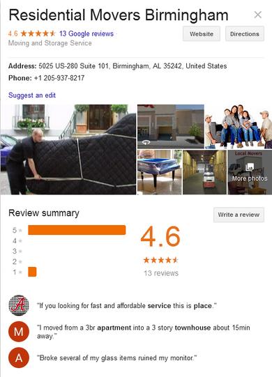 Residential Movers Birmingham - Location