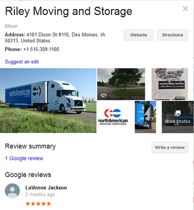 Riley Moving and Storage – Location