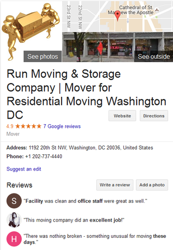 Run Moving and Storage – Location