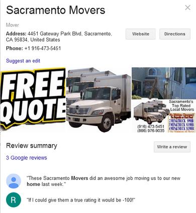 Sacramento Movers – Location