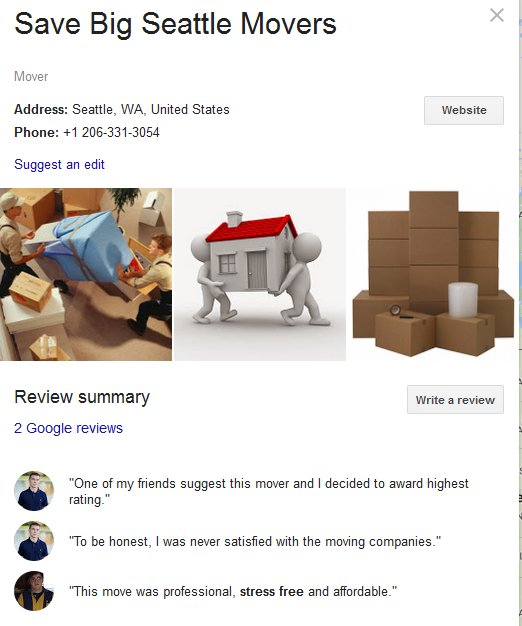 Save Big Seattle Movers – Location
