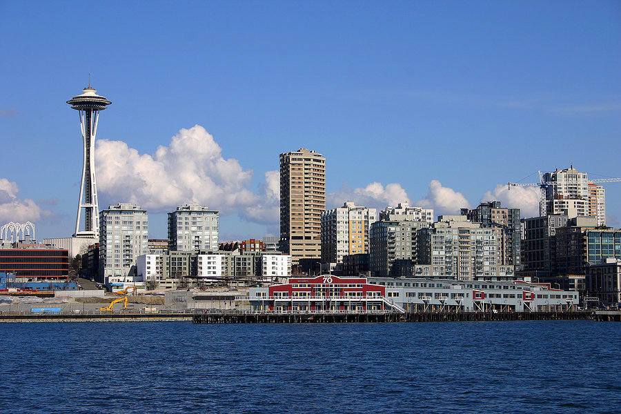 Seattle skyline with famous Space Needle