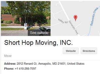 Short Hop Moving – Location