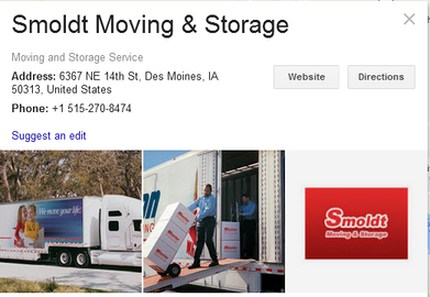 Smoldt Moving and Storage – Location