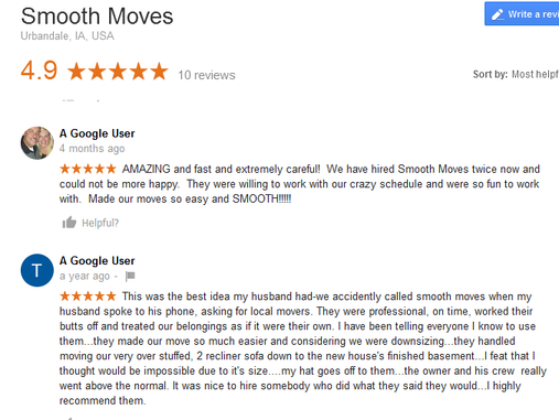 Smooth Moves – Moving reviews