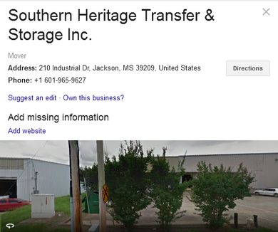 Southern Heritage Transfer & Storage – Location