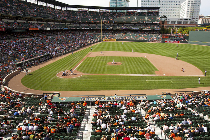 Spectators love to cheer their teams on at Oriole Park in Camden Yards