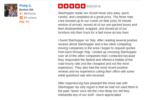 Stairhopper Movers - Moving review