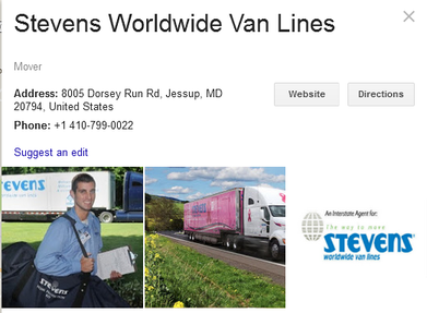 Stevens Worldwide Van Lines – Location