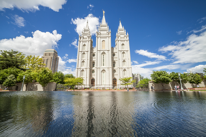 Stunning Mormon architecture in the city – Church of Jesus Christ of Latter Day Saints headquarters