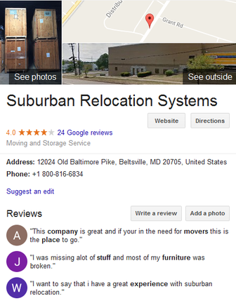 Suburban Relocation Systems – Location