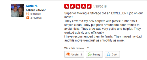 Superior Moving and Storage – Moving reviews