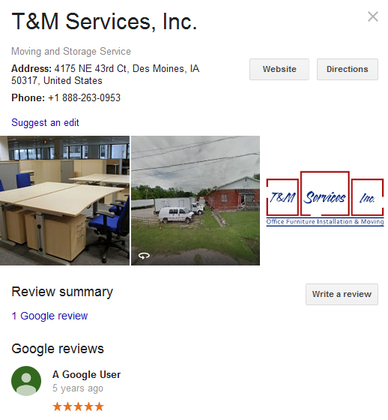 T & M Services – Location