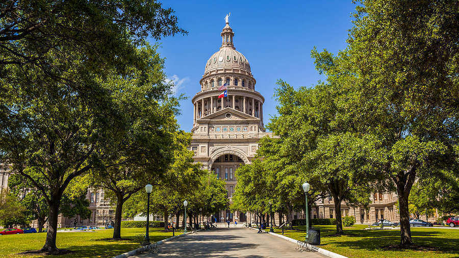 Texas State Capitol Building in Austin is an impressive sight in the city's landscape