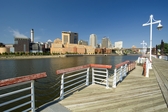 The Harriet Island Marina – venue of many festivals in the city