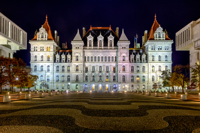 The elegant New York State Capitol Building in Albany – one of many iconic buildings in the city