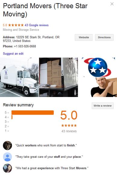 Three Star Moving Company – Location