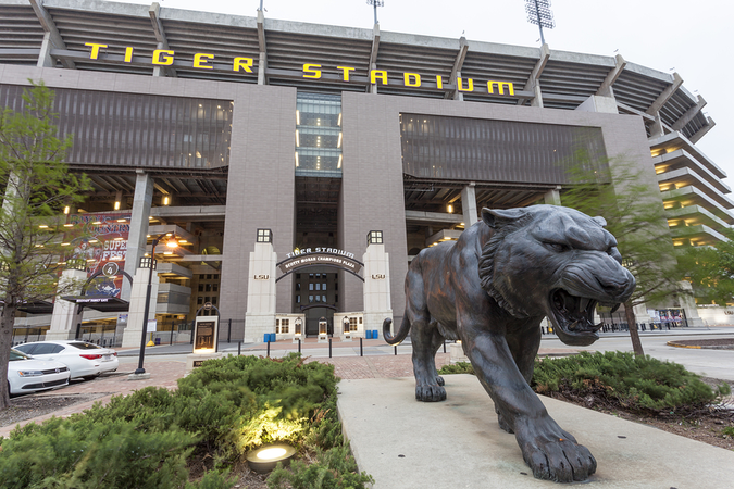 Tiger Stadium in Baton Rouge is one of the largest stadiums in the world