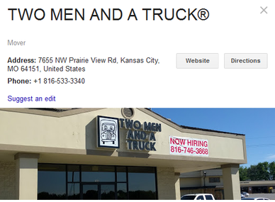 Two Men and a Truck – Location