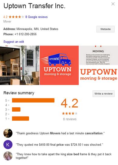 Uptown Transfer Inc – Location