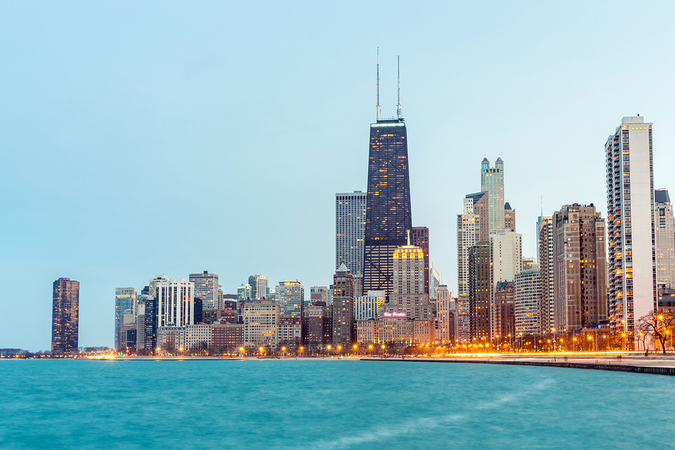 View of Chicago – 3rd most populated city in the USA