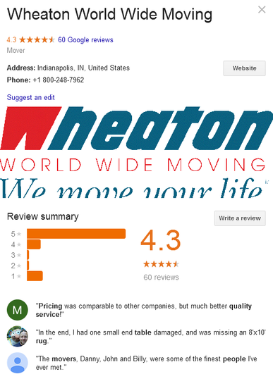 Wheaton World Wide Moving – Location