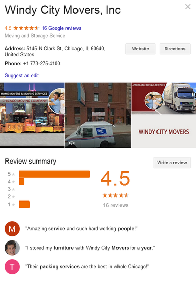 Windy City Movers – Location