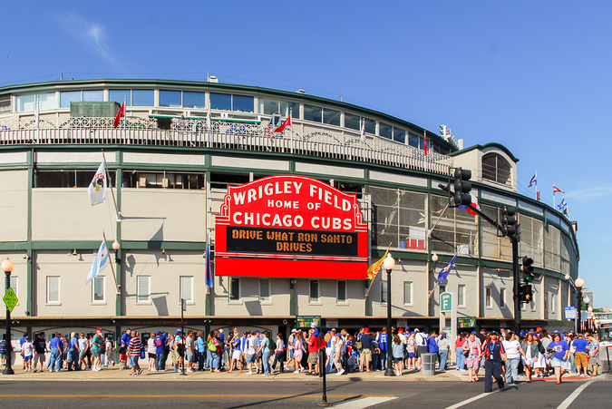 Wrigley Field – No better way to have fun on a nice day with the whole family with some live sports action