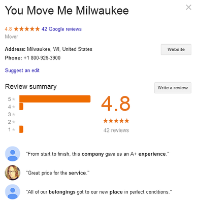 You Move Me Milwaukee – Location