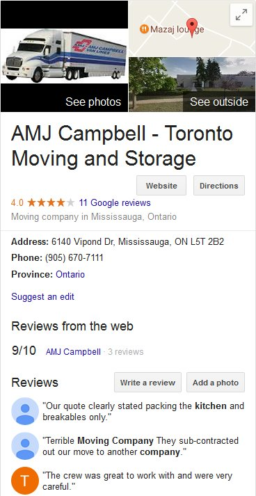 AMJ Campbell - Location