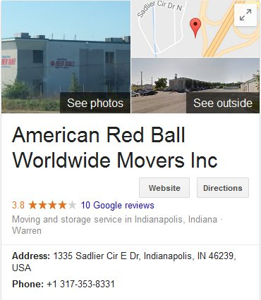 American Red Ball Movers - Location