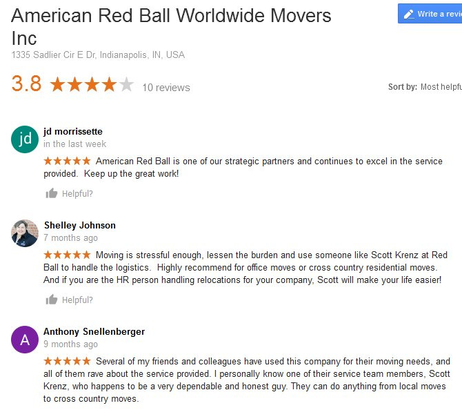 American Red Ball Movers - Moving reviews