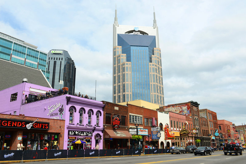 Downtown Nashville – historic and famous for country music