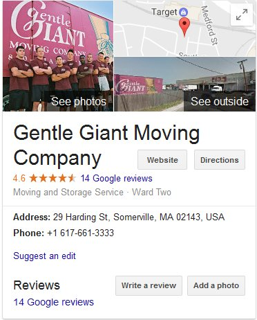 Gentle Giant Moving - Location