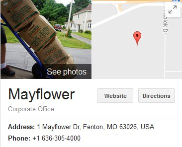 Mayflower Transit - Location