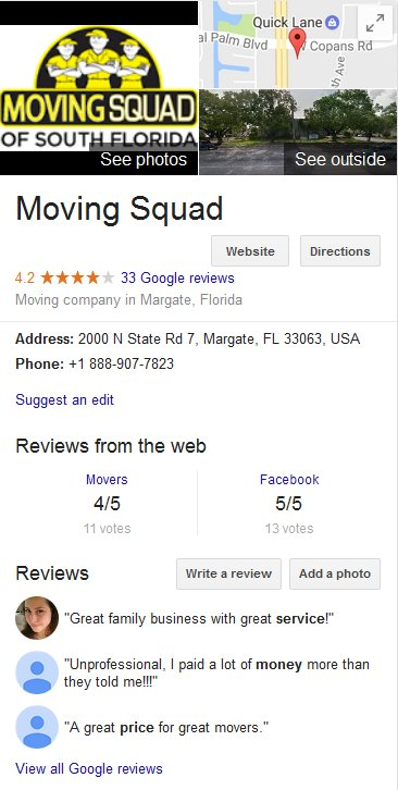 Moving Squad - Location