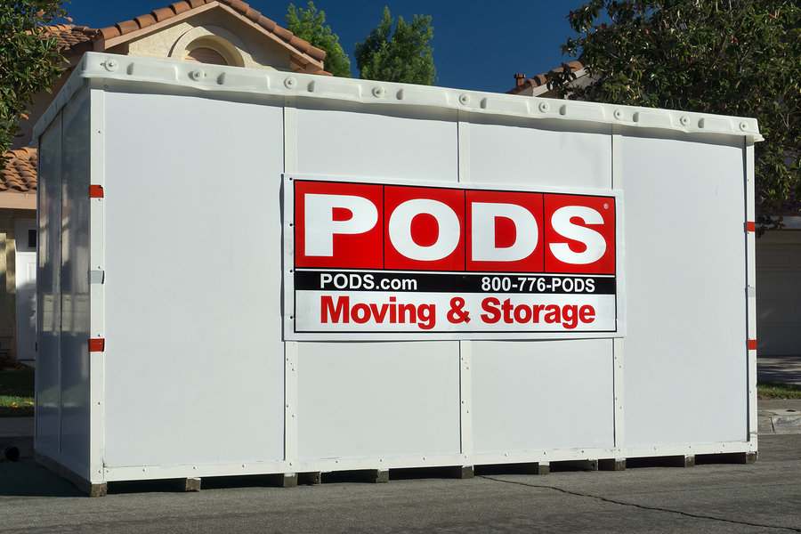 Moving containers come in different sizes and are delivered to your doorstep