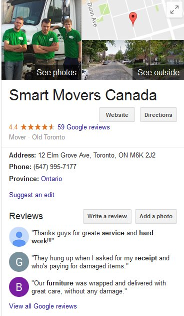 Smart Movers Canada - Location