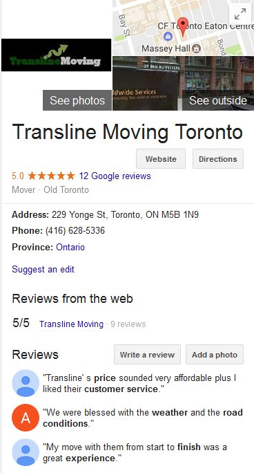 Transline Moving - Location