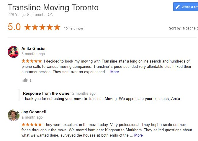Transline Moving - Moving reviews